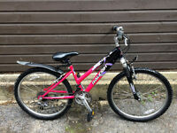 "Raleigh Raptor 24"" Girls Mountain Bike 18 gears"