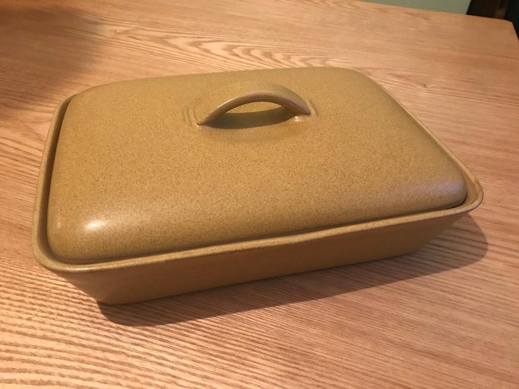 Denby ode pottery 1967 - 1977 lidded divided serving dish
