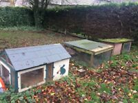 3 Hutches free to uplift