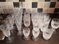 set of various glasses