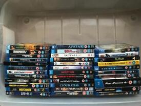 34 boxed Blu Ray DVD's