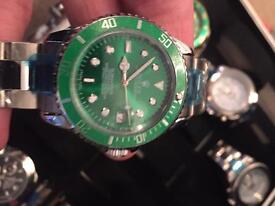 Rolex submariner HULK clear back see pics automatic local deliv free or can post