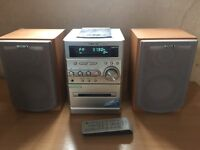 Sony radio/tape/cd player with speakers