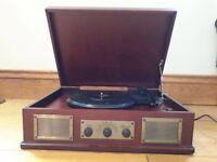Steepletone retro record player