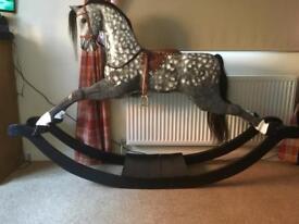Besutiful Grey Wooden Rocking Horse