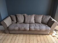 Duck down Sofa with solid oak frame