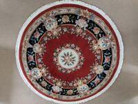 Oriental, Chinese Style Carpet Rug. 60 inch Diameter Circular Round.