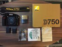 Nikon D750 24.3 MP Full Frame Camera - Body Only