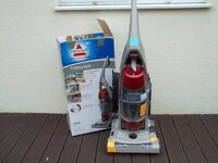 BISSELL FLOORS & MORE UPRIGHT BAG LESS VACUUM WITH EDGE CLEANING - FULLY CLEANED AND TESTED