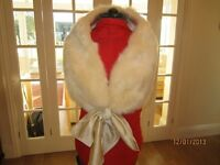Beautiful Winter White mock fur stole, ideal for a winter wedding, new in box with tag