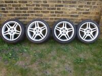 """18"""" AMG Alloys - Staggered 8j x 18 Front 9j x 18 Rears"""