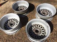 "X4 BMW e34 525i sport Bbs 15"" wheels 5x120 520i 530i 540i 535i m5"