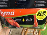Flymo easimo and mini trim, easy pack, boxed and unused. New. Electric lawnmower, Electric strimmer