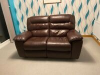 Leather electric recliner 2 seater sofa