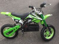 Electric dirt bike 50cc equivalent only a week old