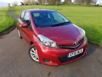 2012 Toyota Yaris VVT-i TR M-Drive S/1.3 Semi Automatic/1 Years MOT/ Low Mileage/Excellent Condition