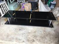 Low level glass tv unit