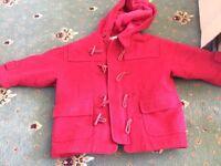 beautiful red girls coat
