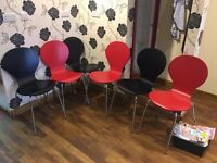 Six good ex salon waiting area chairs