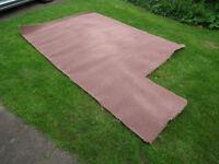 Carpet, chestnut, good quality, hardly used