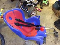 Rear child's bike seat