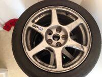 Enkei Mitsubishi alloy wheels 17x8 5x114.3