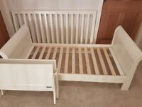 Cot cotbed toddler bed convertible Mamas & Papas Mia white