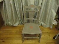 Early 1930s Painted Mahogany Nursing Chair