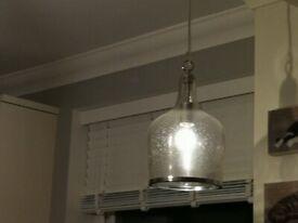 2 breakfast bar hanging lights