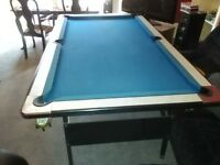 Pool table 6 x 3. Wooden base. Great to play on.