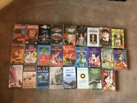 Assorted VHS film videos.
