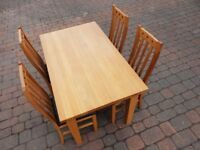 Beech Effect Dining table & 4 Chairs