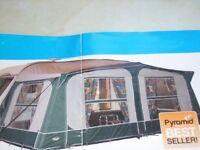 Pyramid Tuscany Caravan Awning 15-16', seldom used, £200 ono