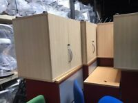 office furniture desk high maple cupboards