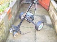 Hill billy battery golf trolley. Good condition.