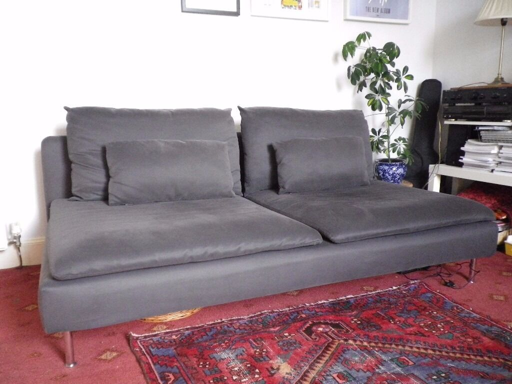 ikea soderhamn 3 seat sofa in dark grey excellent. Black Bedroom Furniture Sets. Home Design Ideas