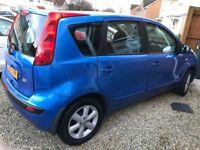 Blue Nissan Note 2007 1386cc