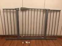Mothercare silver pressure fit safety gate 130cm + wide