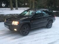 Jeep Grand Cherokee 4.7 V8 limited LPG / gas black