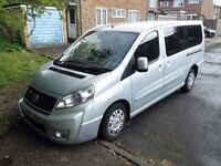Fiat Scudo Panorama LWB 8 seater family car 08 reg with cruise control
