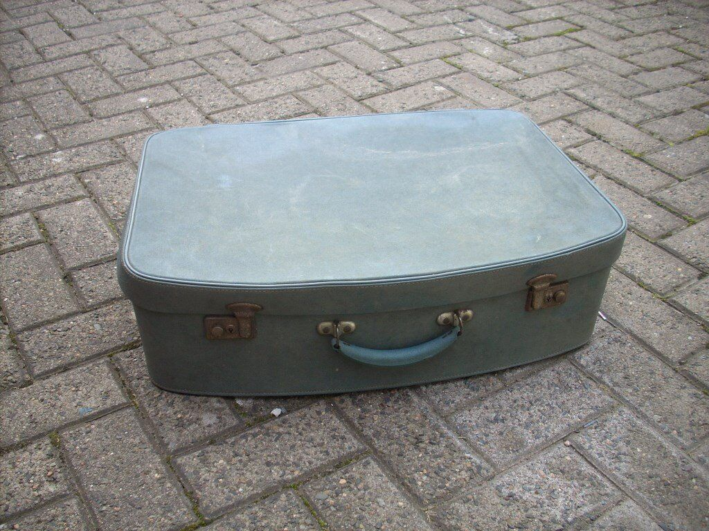 Lovely 1950s/60s Blue Vintage Suitcase