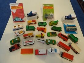 Matchbox 1-75 Series; 29 of, some mint boxed others only slightly used - new price