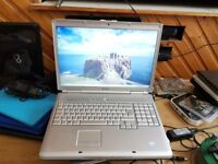 Perfect working order dell inspiron 1720 windows7 3g memory 250g hard drive charger webcam