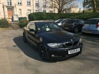 BMW 120D M SPORT COUPE 2009 - BLACK - DIESEL - AUTOMATIC - LOW MILEAGE 75000 FULLY LOADED 1 SERIES