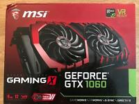 MSI NVIDIA GeForce GTX 1060 GAMING X 6 GB GDDR5 Memory PCI Express 3.0 Graphics Card - Black