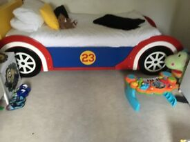 Full size single car bed with storage