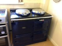 Navy blue gas 2 0ven Aga. Good working order& condition