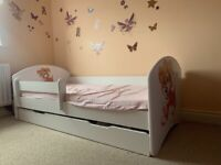 Toddler Bed with storage & mattress