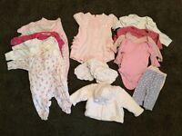 Baby girls clothes bundle newborn - 1 month