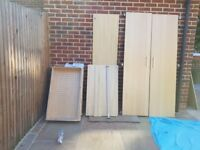 IKEA PAX DOUBLE WARDROBE WITH DRAWERS AND RAIL